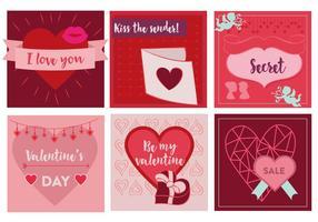 Elementi vettoriali gratis di San Valentino