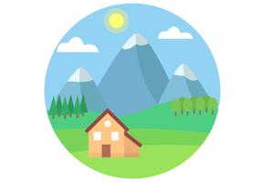 Vettore di paesaggio montagna gratis