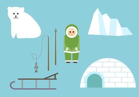 Vettore di Polo Nord gratis