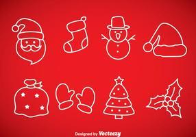 Icone di contorno di Natale