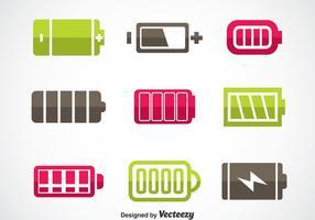 Set di icone della batteria del telefono vettore
