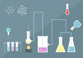 Vettore del kit di chimica gratuito