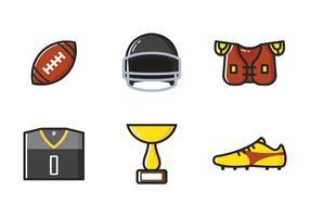 Icona della linea di football americano vettore