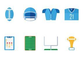 Icona piana di football americano
