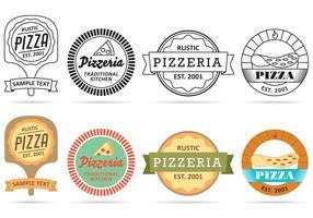 Pizza Logo Vettori