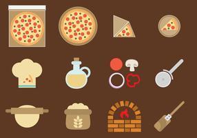 Icone di pizza vettoriale