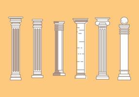 Icone di vettore pilastro romano # 3