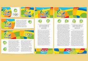 Disegni olimpici di vettore di Tempalte