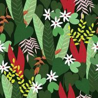 modello di fiori tropicali vettore