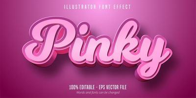 testo mignolo, effetto font modificabile 3d vettore
