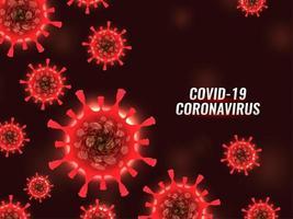 moderno covid-19 sfondo di cellule di coronavirus