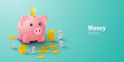 concetto di risparmio di denaro vettore