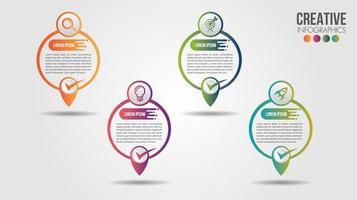 Mappa di affari infografica individuare la cronologia