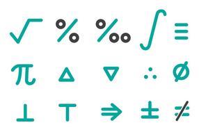 Vettore libero del pacchetto delle icone di per la matematica