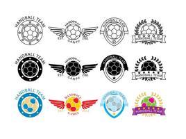 Vettori di logo della palla a mano