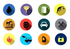 Icona di vettore del cambio dell'olio