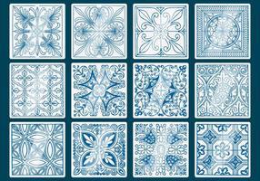 Vettori di piastrelle Talavera blu