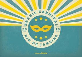 Retro illustrazione di carnevale del Brasile vettore