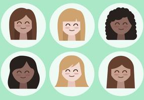 Vettore di avatar femminili gratis