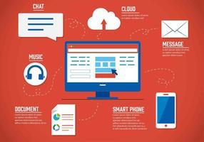 vettore elementi nuvola digitale