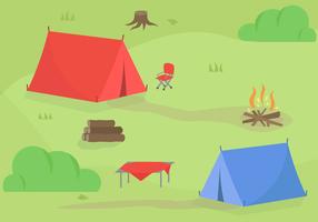 Campeggio vettoriale gratuito