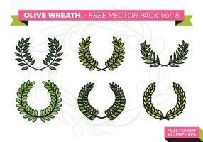 Pacchetto gratuito di Olive Wreath Vector Vol. 5