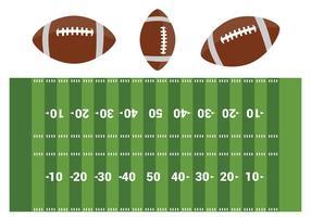 Vettore gratuito campo di football americano