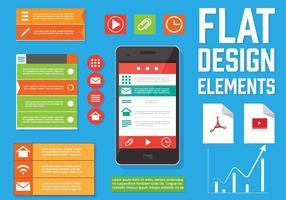 Elementi di design Web vettoriali gratis