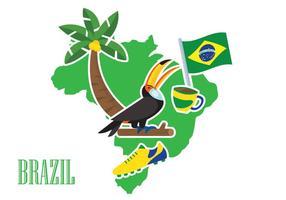 Illustrazione del Brasile vettore