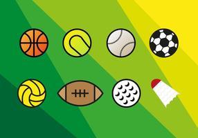 Palloni sportivi vettoriale