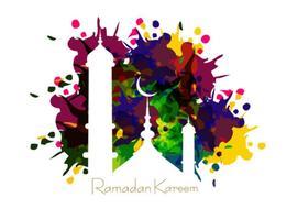 Moschea su Ramadan Kareem Card