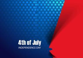 4 luglio giorno dell'indipendenza negli Stati Uniti d'America vettore