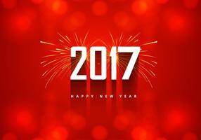 Scheda di nuovo anno 2016 con fuochi d'artificio