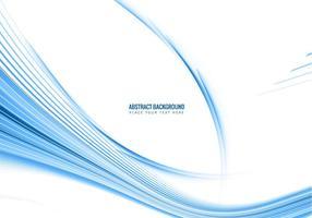 Scheda con Blue Line Creazione Wave vettore