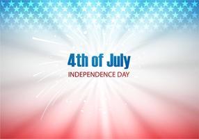 4 luglio giorno dell'indipendenza con Fire Cracker vettore