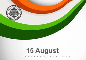 Bandiera indiana a tre colori vettore