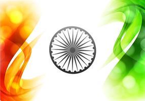 Illustrazione della bella bandiera indiana vettore