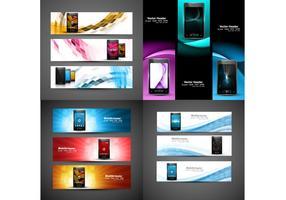 Intestazioni per sito web di telefonia mobile vettore