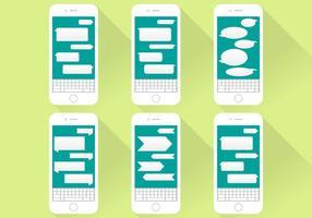 Illustrazione piana di Iphone delle icone di conversazione di imessage
