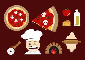 Vettore delle illustrazioni del forno della pizza