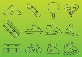 Icone di vettore di ricreazione