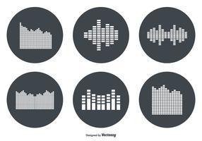 Insieme dell'icona di vettore della barra del suono