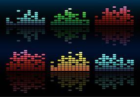 Equalizzatore colorato di musica di vettore gratis