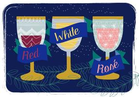 Sfondo carino illustrazione di vino vettore