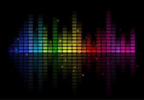 Equalizzatore di musica astratta vettoriale gratuito
