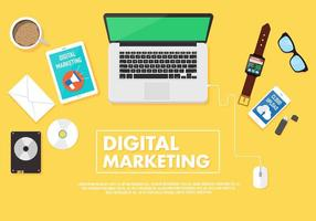 vettore mockup di marketing digitale