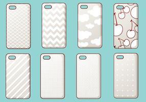 Set vettoriale di caso di iPhone alla moda