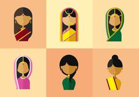 vettore donna india