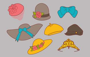 Set vettoriale di cappelli da donna