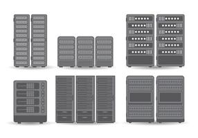 vettore del rack del server
